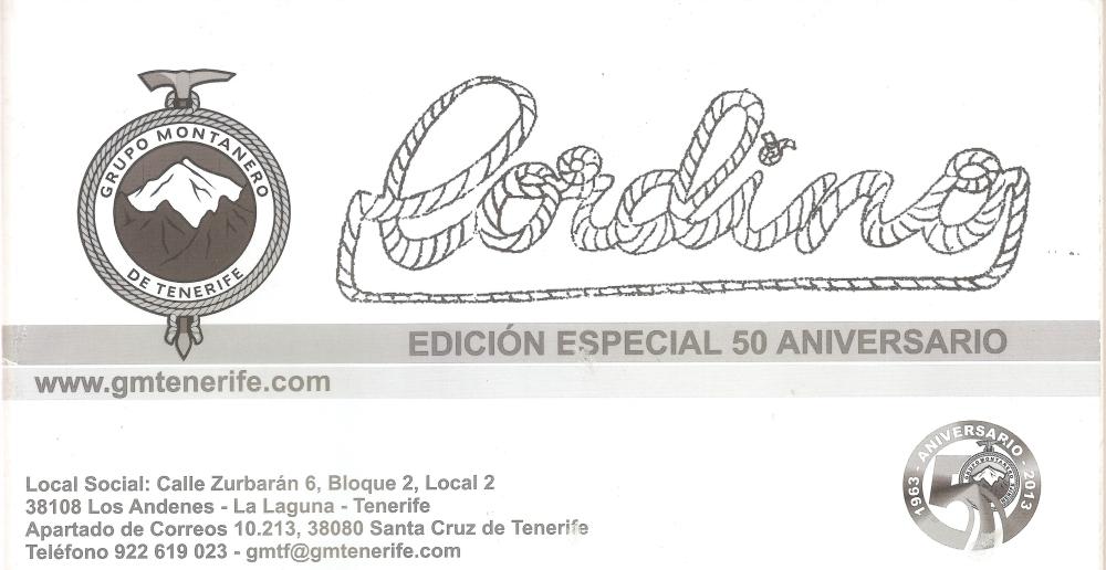 cabecera 50 aniversario Grupo montañero de Tenerife