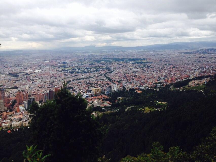Vista de Bogotá desde Montserrate 1.