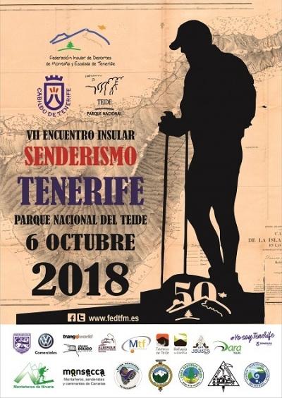 CARTEL VII ENCUEBNTRO INSULAR DE SENDERISMO TENERIFE 2018